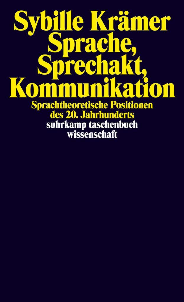 Sprache, Sprechakt, Kommunikation als Taschenbuch