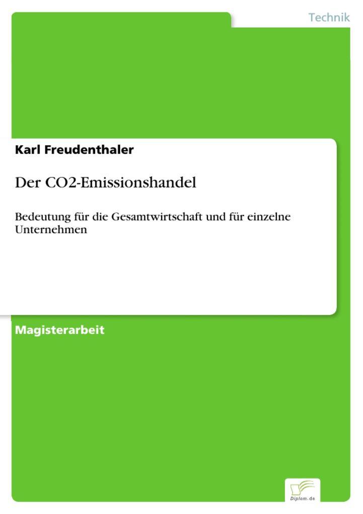 Der CO2-Emissionshandel als eBook Download von Karl Freudenthaler - Karl Freudenthaler