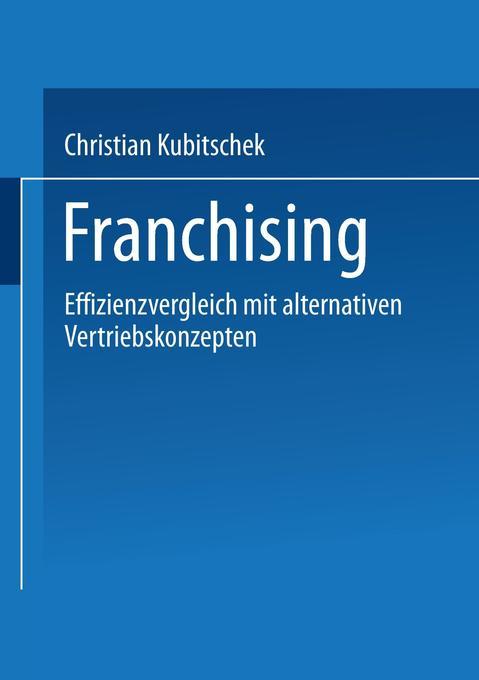 Franchising als Buch