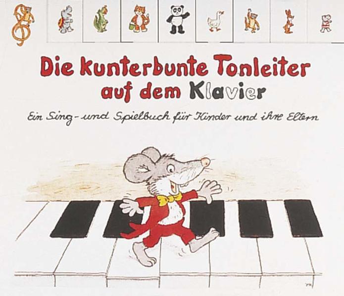 Die kunterbunte Tonleiter auf dem Klavier als Buch