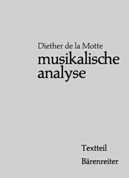 Musikalische Analyse, 2 Bde. als Buch