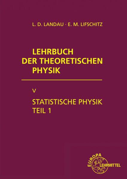 Statistische Physik. Tl.1 als Buch (gebunden)