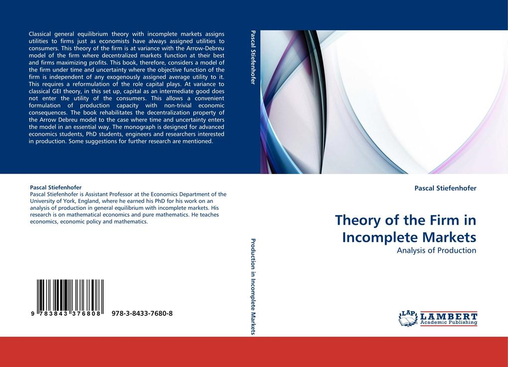 Theory of the Firm in Incomplete Markets als Bu...