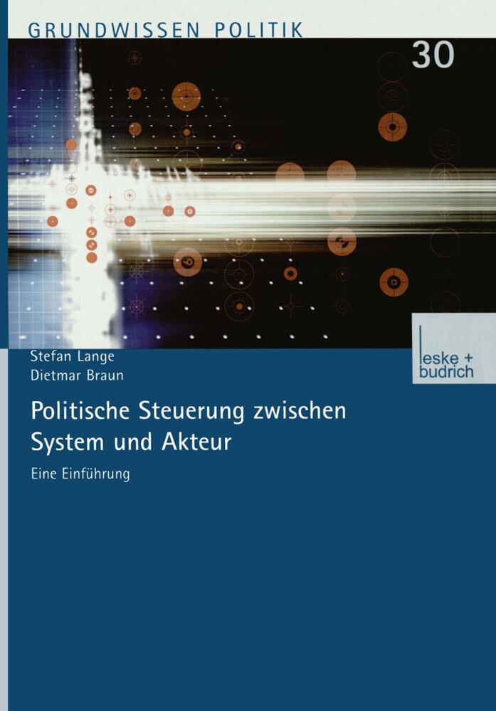 Politische Steuerung zwischen System und Akteur als Buch