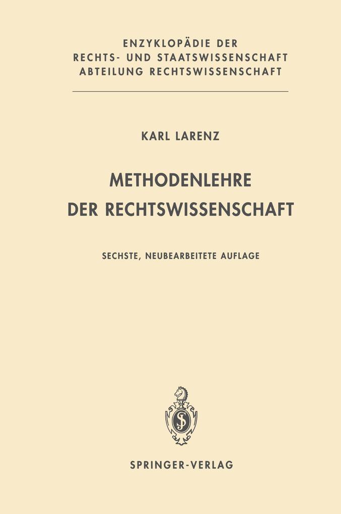Methodenlehre der Rechtswissenschaft als Buch
