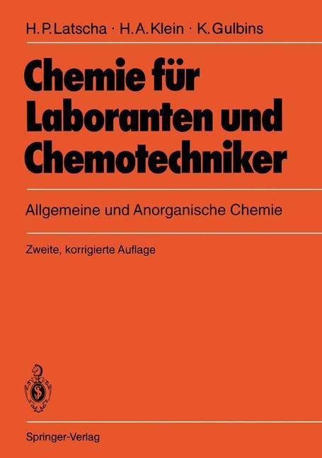 Chemie für Laboranten und Chemotechniker als Buch