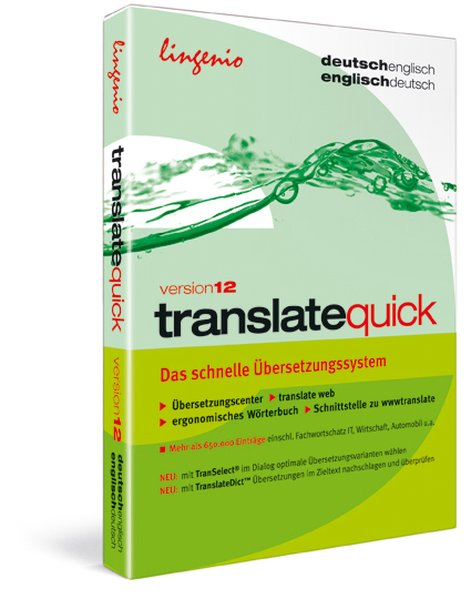 translate quick 12. Deutsch-Englisch / Englisch...