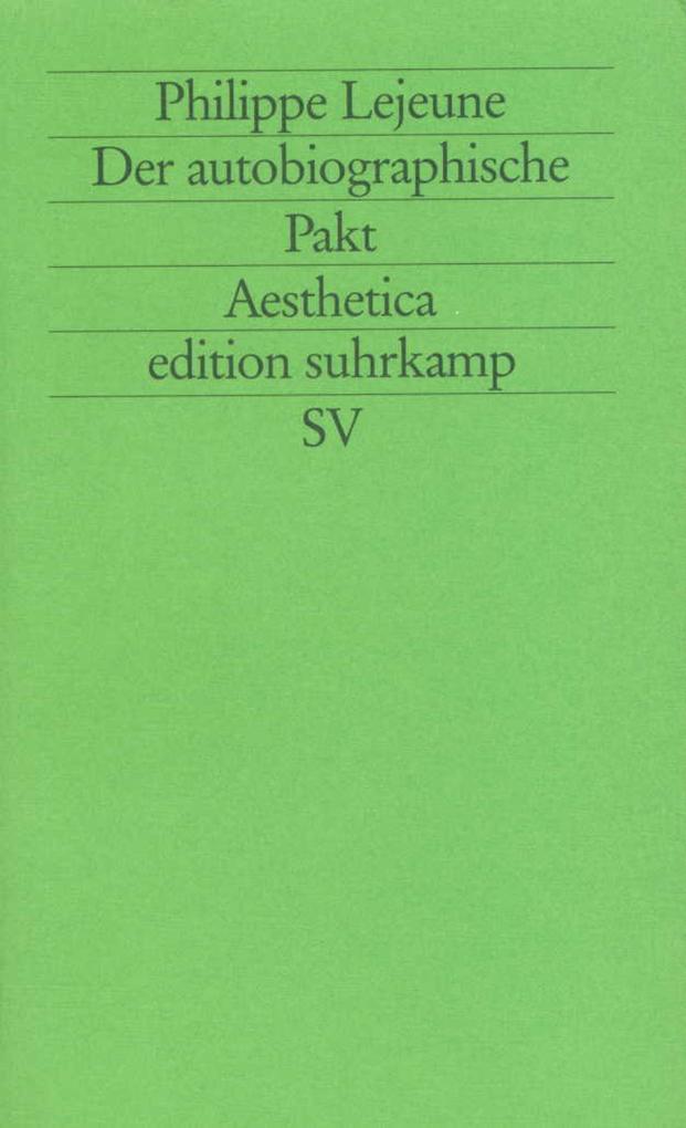 Der autobiographische Pakt als Buch