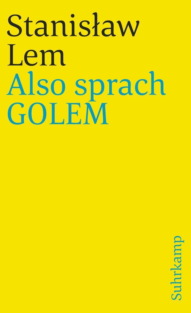 Also sprach GOLEM als Taschenbuch