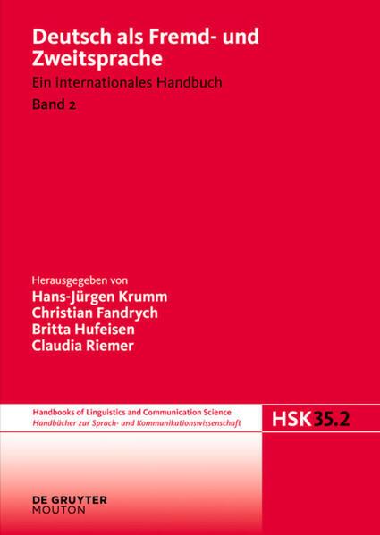 Deutsch als Fremd- und Zweitsprache. 2. Halbband als Buch (gebunden)