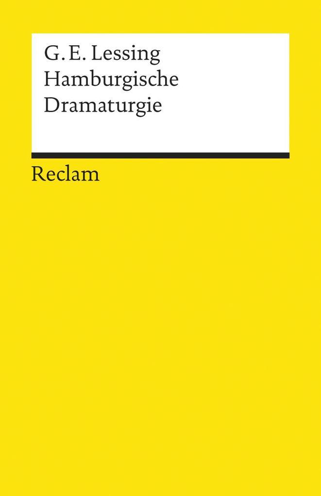 Hamburgische Dramaturgie als Taschenbuch
