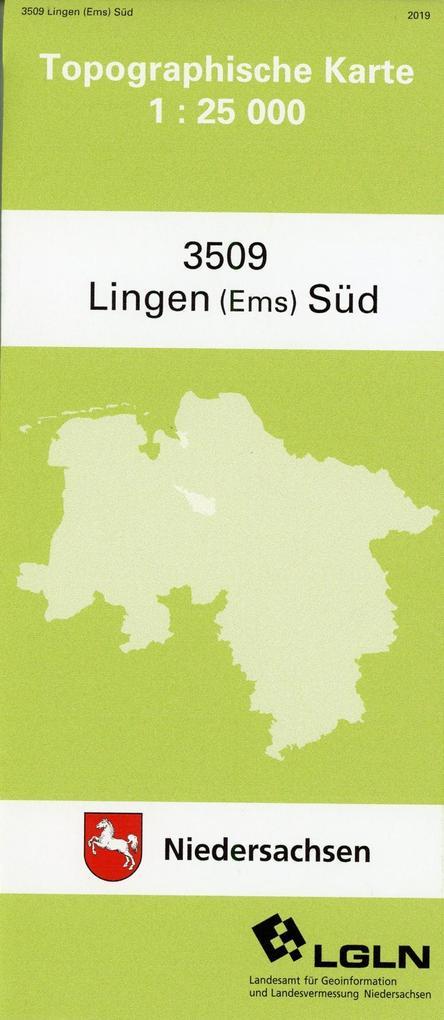 Lingen (Ems) Süd 1 : 25 000. (TK 3509/N) als Buch