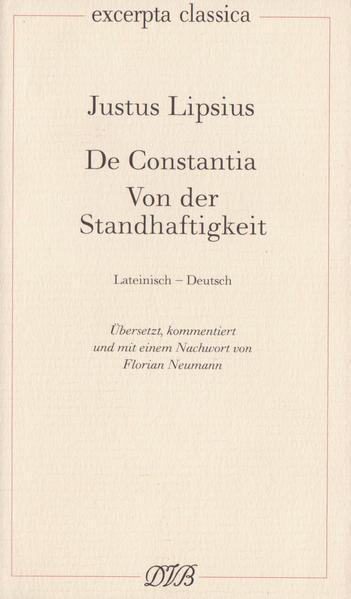 De Constantia. Von der Standhaftigkeit als Buch