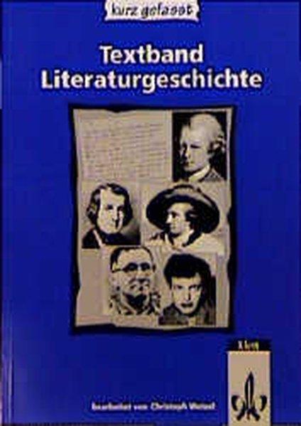 Literaturgeschichte kurz gefasst. Textband. RSR als Buch