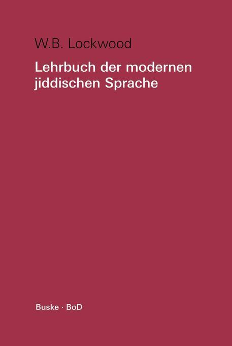 Lehrbuch der modernen jiddischen Sprache als Buch
