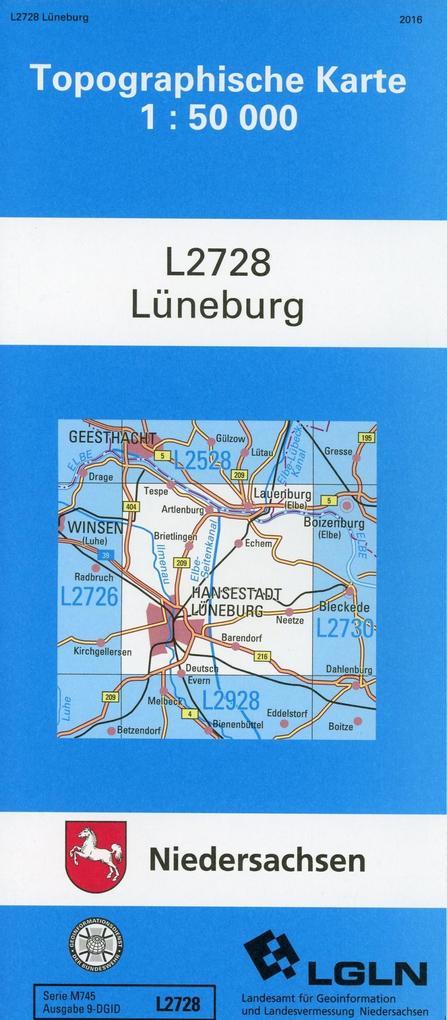 Lüneburg 1 : 50 000. (TK 2728/N) als Buch