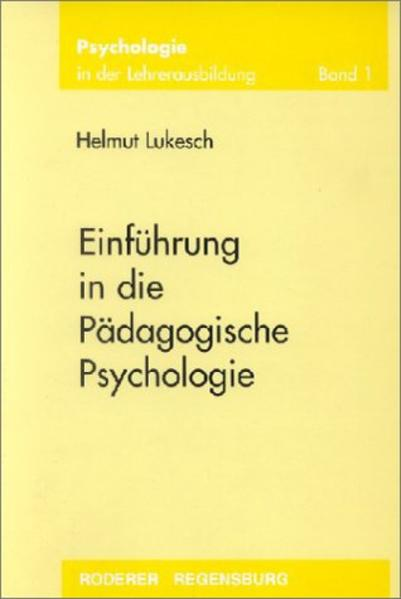 Einführung in die Pädagogische Psychologie als Buch