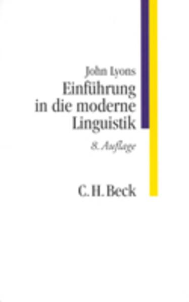 Einführung in die moderne Linguistik als Buch