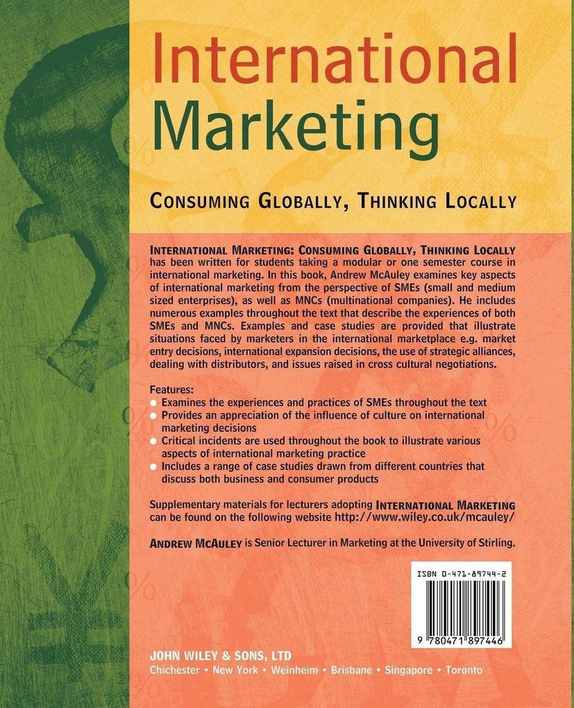 International Marketing als Buch