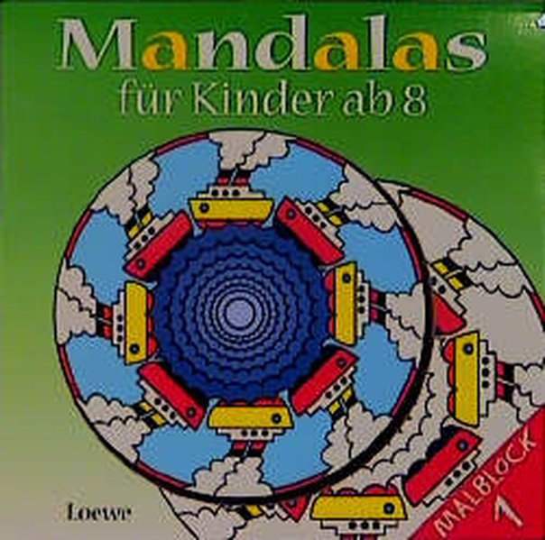 Mandalas für Kinder ab 8, Malblocks. Bl.1 als Buch