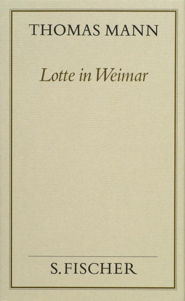 Lotte in Weimar als Buch