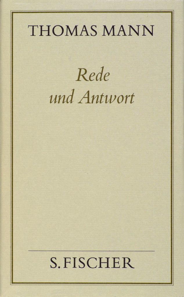 Rede und Antwort ( Frankfurter Ausgabe) als Buch