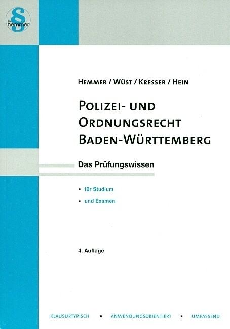 Polizeirecht Baden-Württemberg als Buch von Kar...