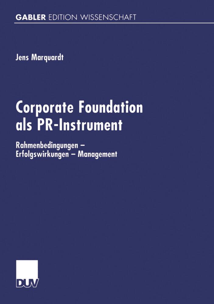 Corporate Foundation als PR-Instrument als Buch
