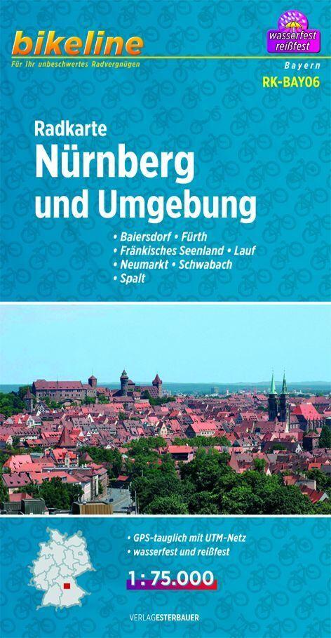 Bikeline Radkarte Deutschland Nürnberg und Umge...