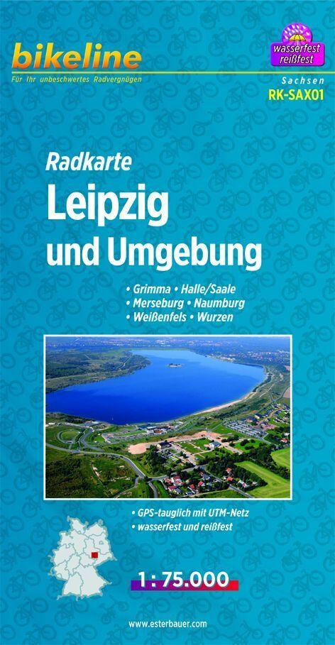 Bikeline Radkarte Deutschland Leipzig und Umgeb...