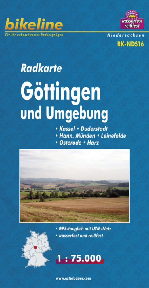 Bikeline Radkarte Deutschland Göttingen und Umg...
