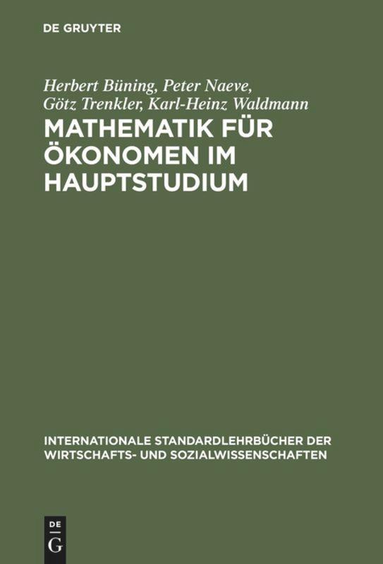 Mathematik für Ökonomen im Hauptstudium als Buch