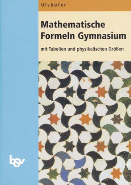Mathematische Formeln Gymnasium. Euro als Buch