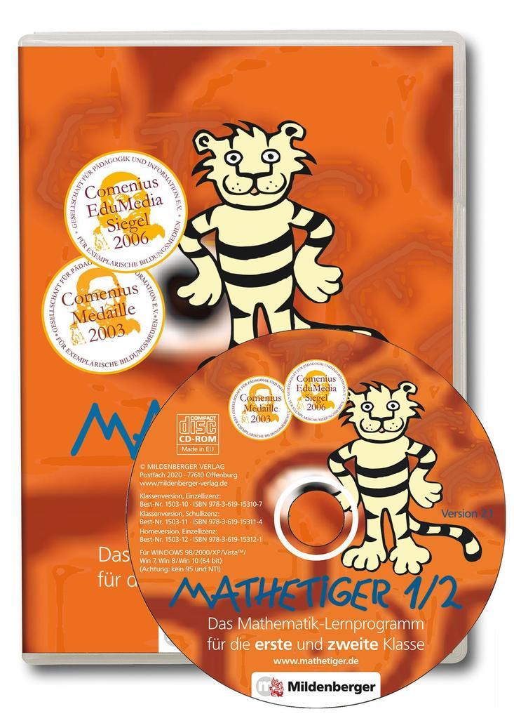 Mathetiger 1 / 2. CD-ROM als Software