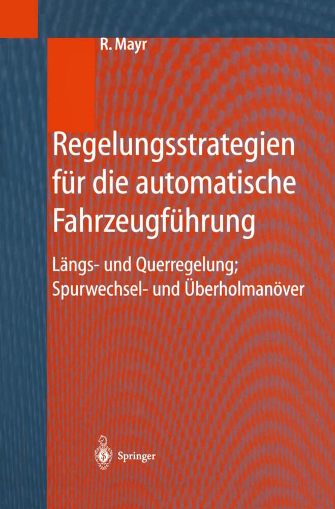 Regelungsstrategien für die automatische Fahrzeugführung als Buch