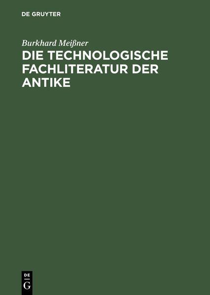 Die technologische Fachliteratur der Antike als Buch