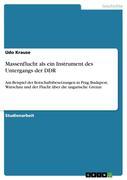 Massenflucht als ein Instrument des Untergangs der DDR