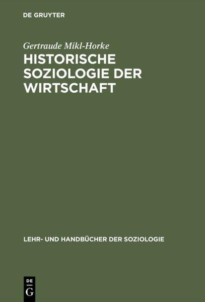 Historische Soziologie der Wirtschaft als Buch
