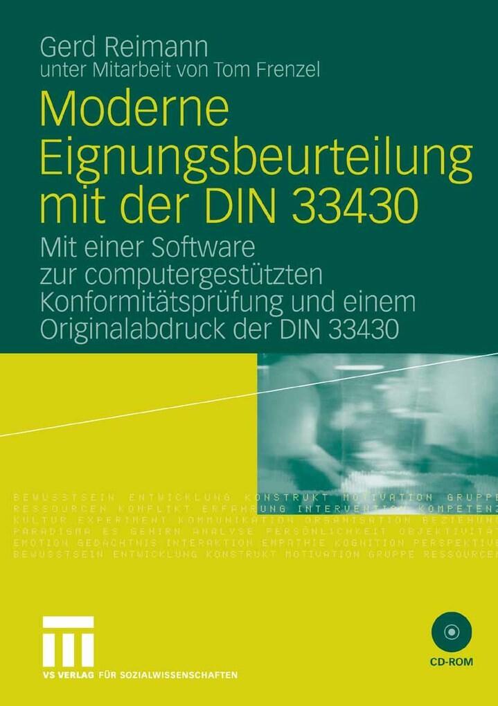 Moderne Eignungsbeurteilung mit der DIN 33430 a...