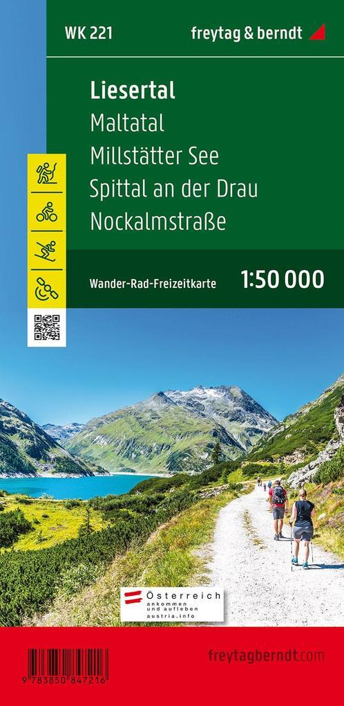 Liesertal, Maltatal, Millstätter See, Spittal an der Drau, Nockalmstrasse 1 : 50 000 als Buch