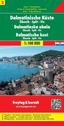 FuB Dalmatinische Küste 02. Sibenik - Split - Vis 1 : 100 000