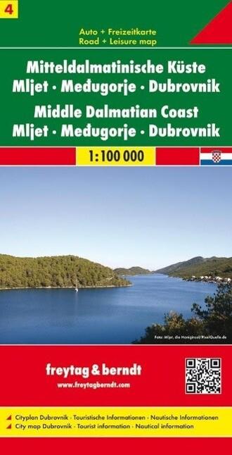 Mitteldalmatinische Küste 04.  1 : 100 000 als Buch
