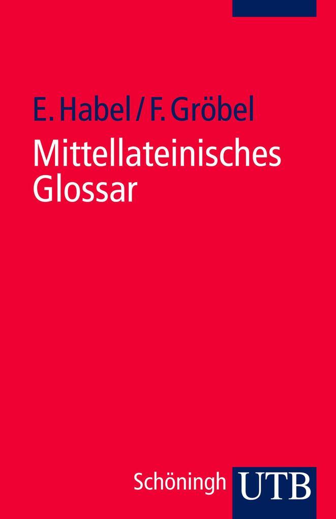 Mittellateinisches Glossar als Taschenbuch
