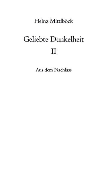 Geliebte Dunkelheit II als Buch