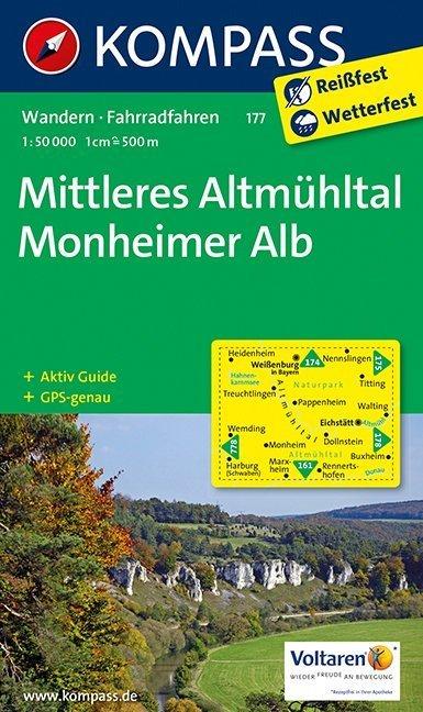 Mittleres Altmühltal / Monheimer Alb 1 : 50 000 als Buch