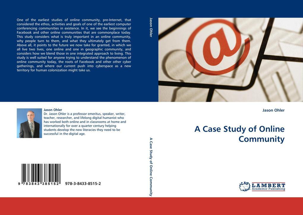 A Case Study of Online Community als Buch von J...