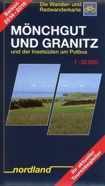 Mönchgut und Granitz 1 : 30 000. Rad- und Wanderkarte als Buch