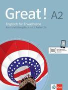 Great! Lehr- und Arbeitsbuch mit 2 Audio-CDs A2