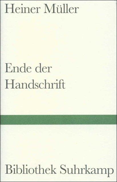 Ende der Handschrift als Buch