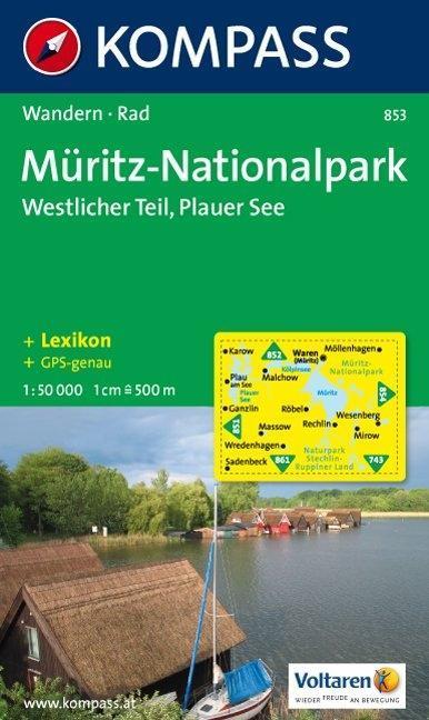Müritz-Nationalpark. Westlicher Teil. Plauer See 1 : 50 000 als Buch